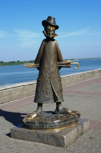Памятник А.П. Чехову, набережная р. Томь